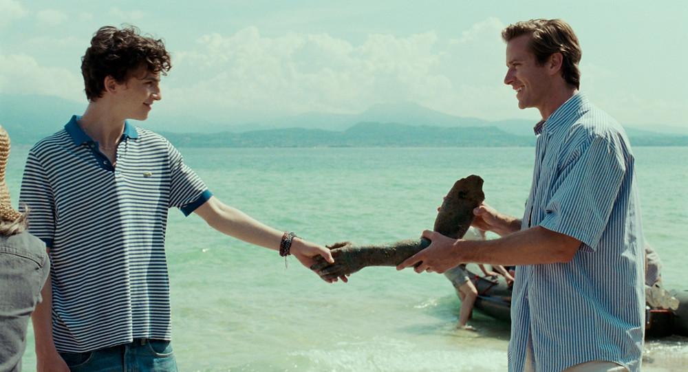 Timothée Chalamet e Armie Hammer em cena do filme Me Chame Pelo Seu Nome (2017) | Foto: Divulgação (Sony Pictures)