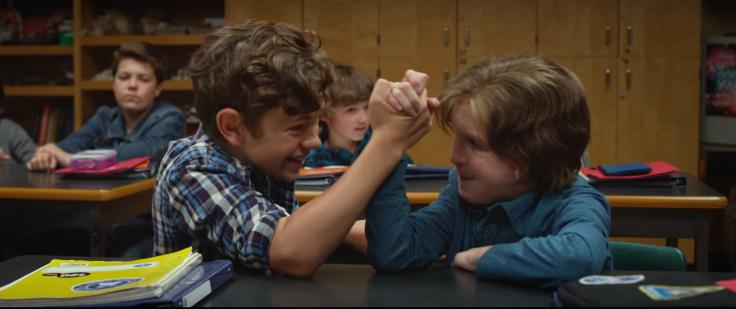 Noah Jupe e Jacob Tremblay em cena do filme Extraordinário (2017) | Foto: Divulgação (Paris Filmes)