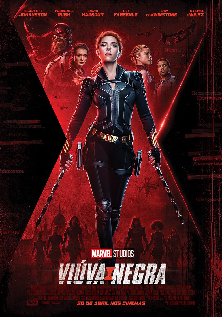 Pôster do filme Viúva Negra (2020), divulgado antes do agravamento da crise global do Coronavírus | Divulgação (Marvel / Disney)