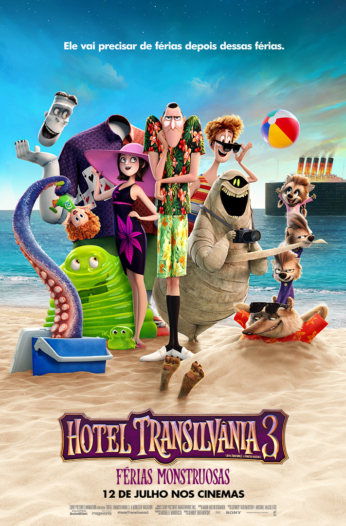 Pôster de Hotel Transilvânia 3: Férias Monstruosas (2018) | Divulgação (Sony Pictures)