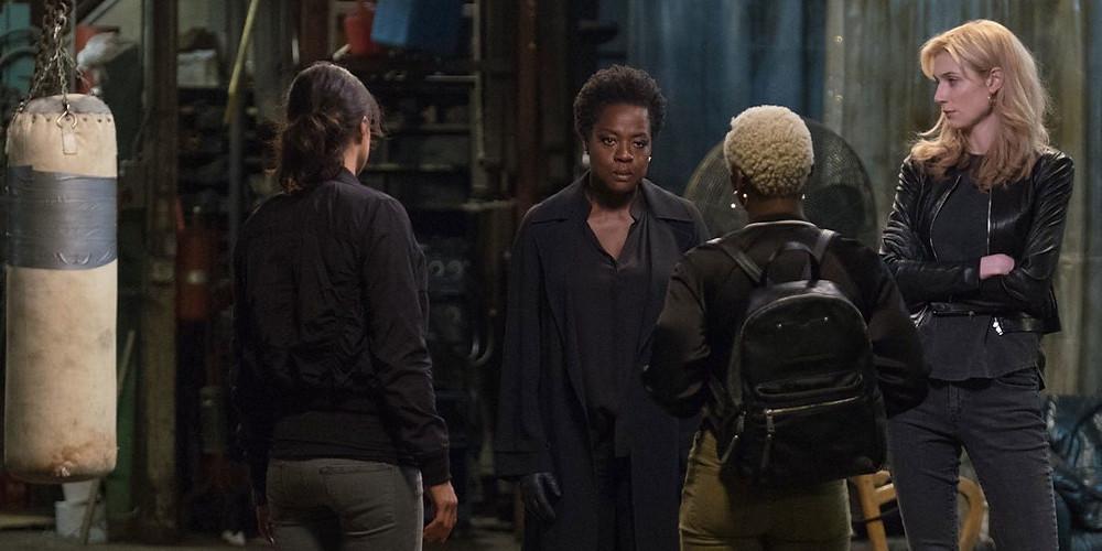 Michelle Rodriguez, Viola Davis, Cynthia Erivo e Elizabeth Debicki em cena do filme As Viúvas (2018) | Foto: Divulgação