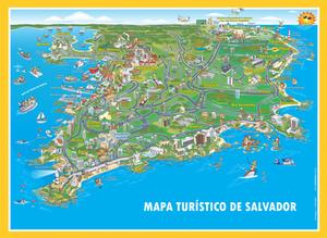 Mapa turístico de Salvador