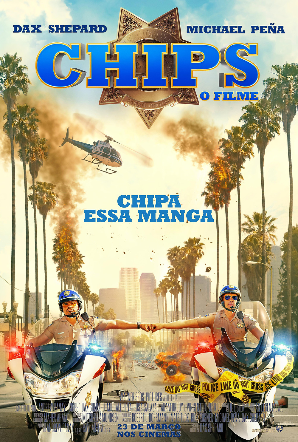 Cartaz da comédia CHiPs: O Filme (2017) | Divulgação