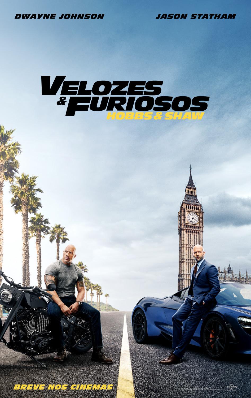 Cartaz do filme Velozes & Furiosos: Hobbs & Shaw (2019) | Divulgação (Universal Pictures)
