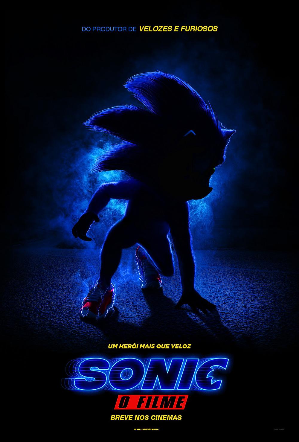 Cartaz de Sonic – O Filme (2019) | Divulgação (Paramount Pictures)