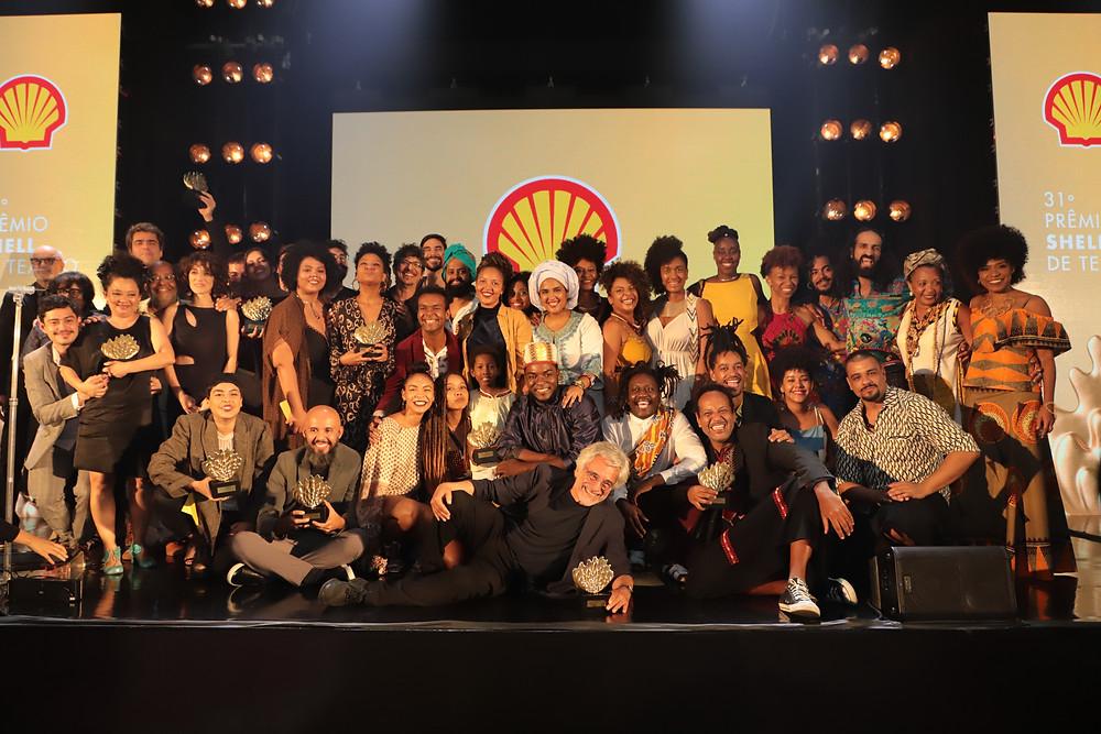 Foto dos vencedores da edição carioca do 31º Prêmio Shell de Teatro, realizado no Rio de Janeiro na terça passada (12) | Foto: Divulgação (Prêmio Shell de Teatro)
