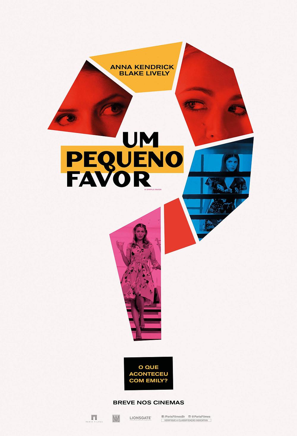 Teaser pôster do filme Um Pequeno Favor (2018) | Divulgação (Paris Filmes)