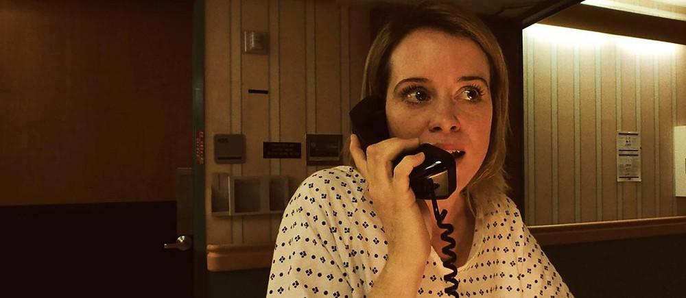 Claire Foy em cena do filme Distúrbio (Unsane, 2018) | Foto: Divulgação (Fox Home Entertainment)