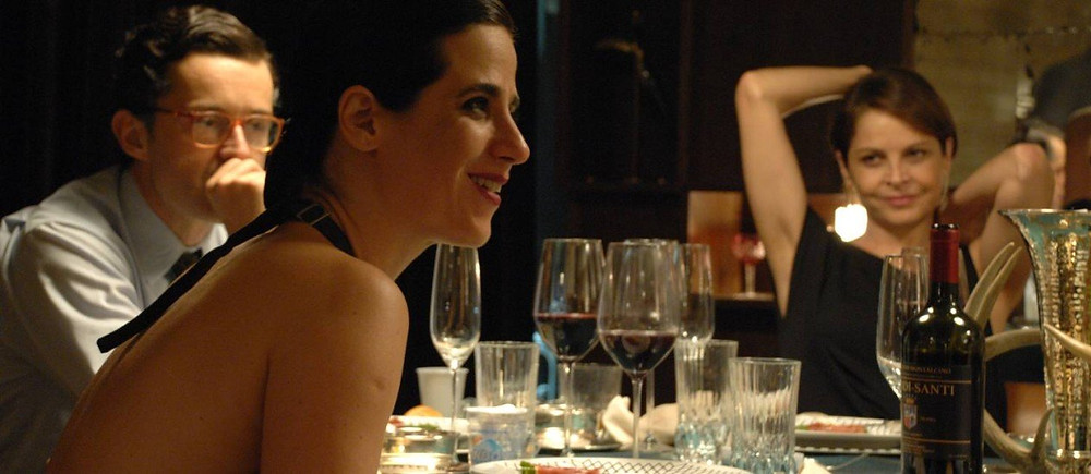 Rodrigo Bolzan, Mariana Lima e Drica Moraes em cena de O Banquete (2018)   Foto: Divulgação