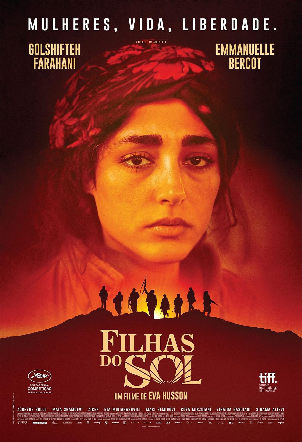 Cartaz do filme francês Filhas do Sol (2018) | Divulgação (Califórnia Filmes)