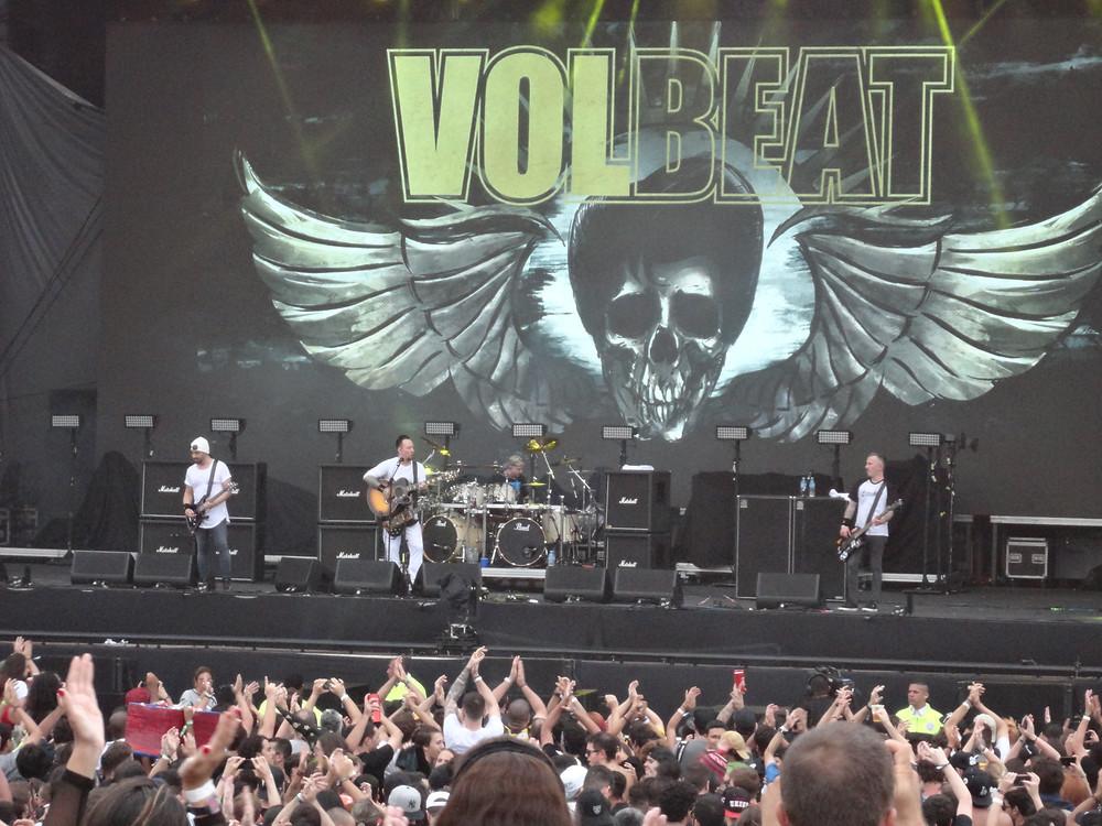 A banda dinamarquesa Volbeat no Lollapalooza 2018 | Foto: Nayara Reynaud
