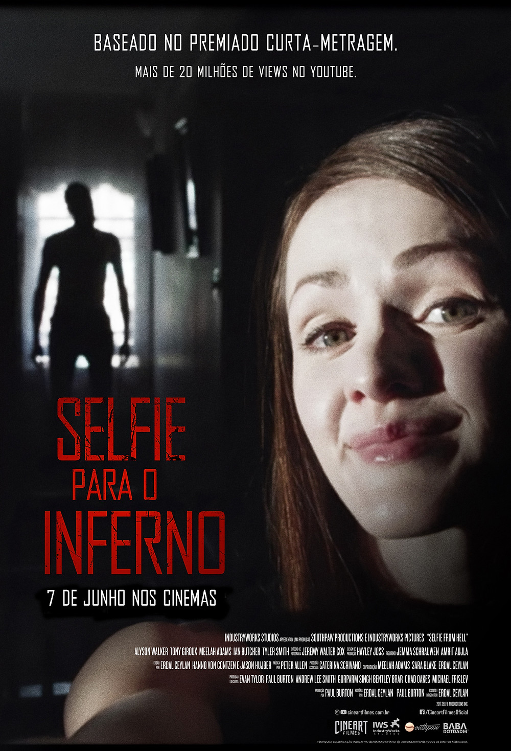 Pôster de Selfie Para o Inferno (2018) | Divulgação (Cineart)