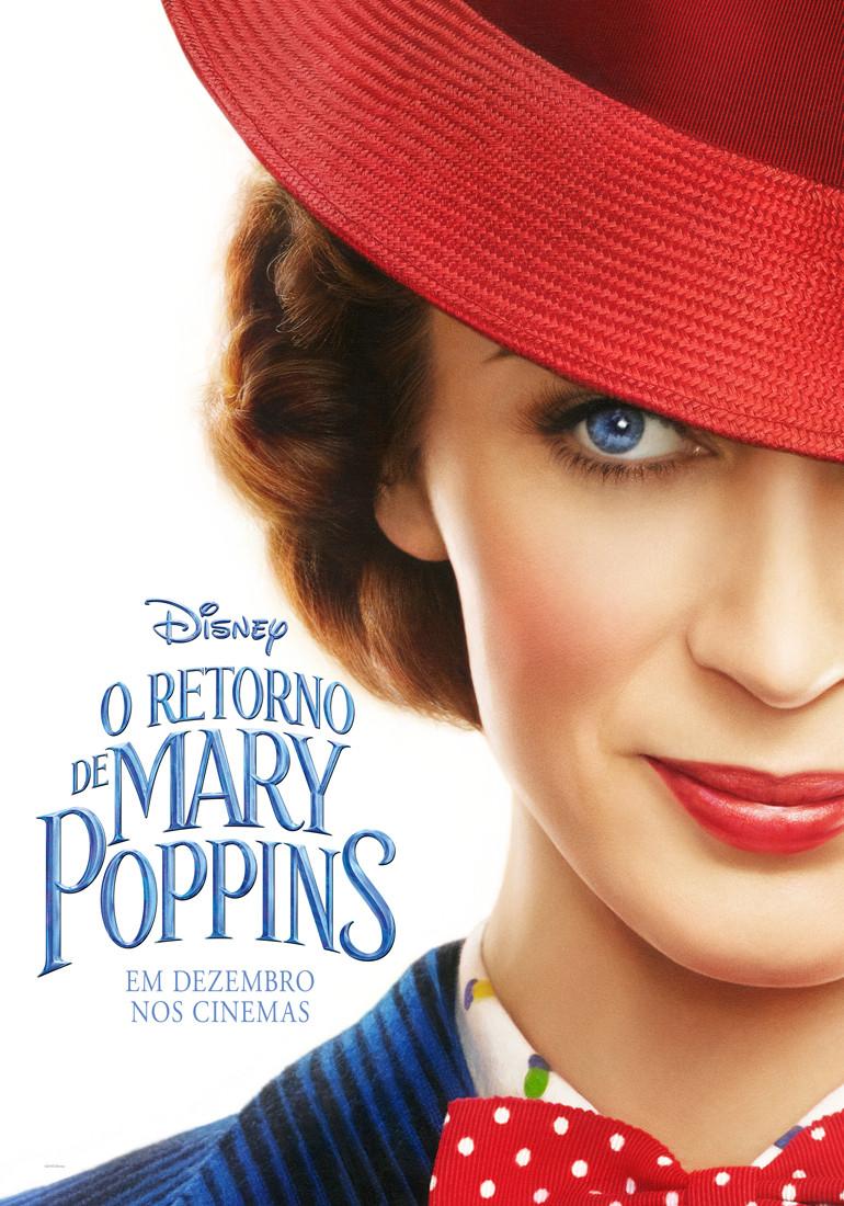 Teaser pôster de O Retorno de Mary Poppins (2018) | Divulgação (Walt Disney)