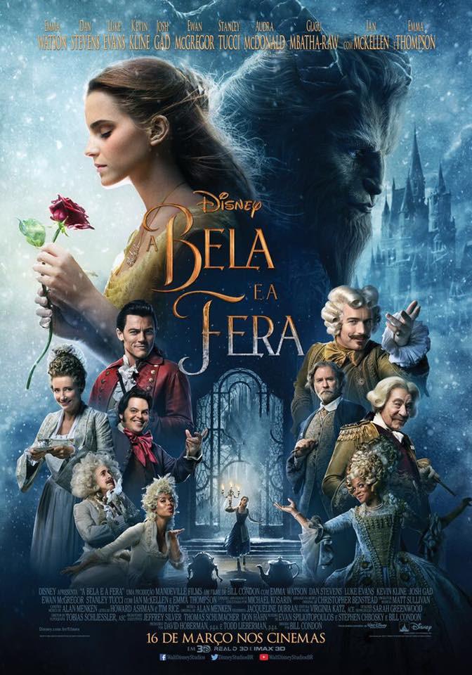 Cartaz do filme A Bela e a Fera (2017) | Divulgação (Disney)