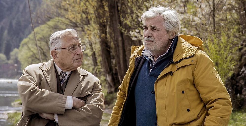 Jirí Menzel e Peter Simonischek no filme eslovaco O Intérprete (2018) | Foto: Divulgação (Mostra Internacional de Cinema em São Paulo)