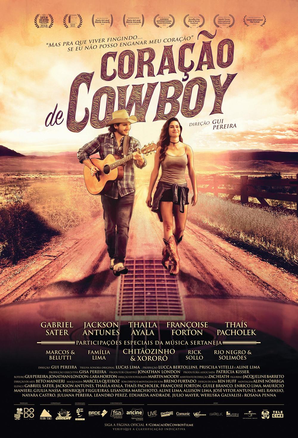 Cartaz de Coração de Cowboy (2018) | Divulgação (Dodô Filmes)