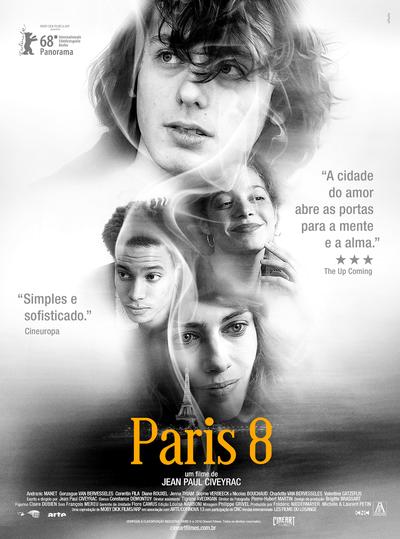Cartaz do filme francês Paris 8 (2018) | Divulgação (Cineart Filmes)