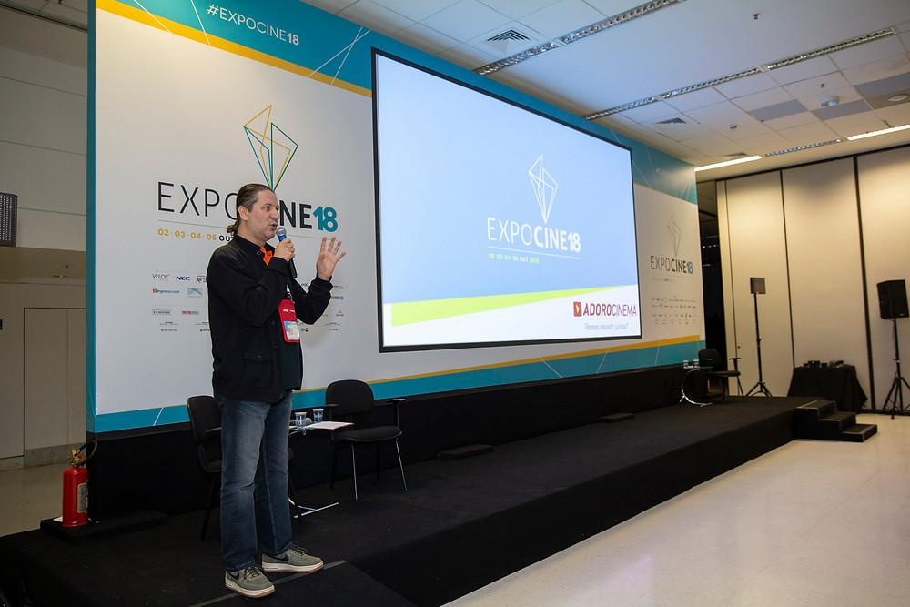 Gilberto Leal no Encontro AExib na Expocine18   Foto: Divulgação