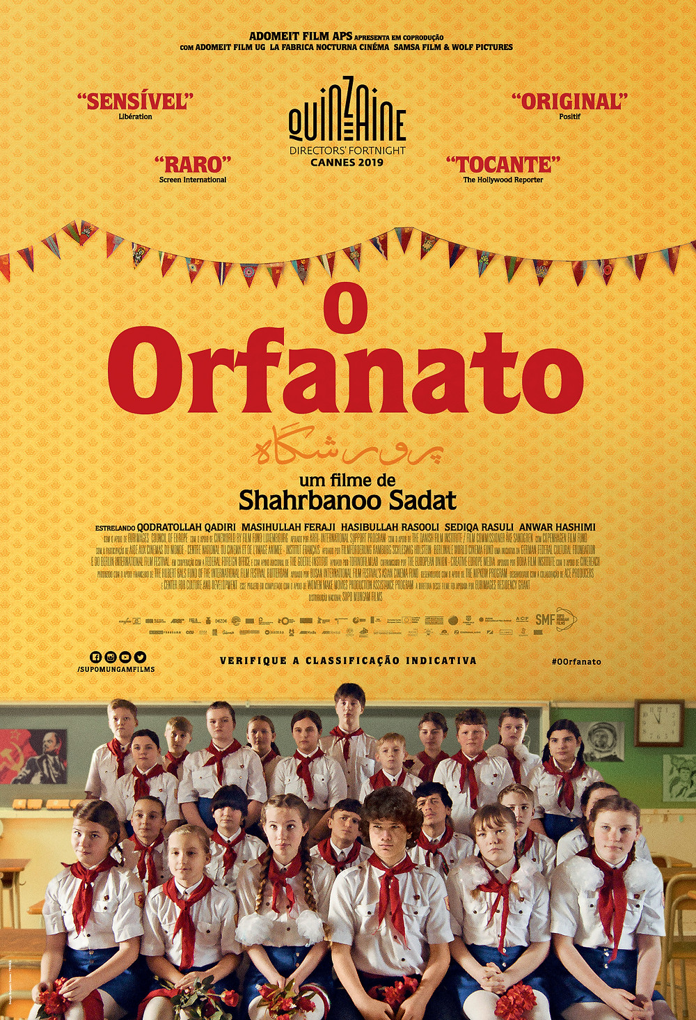 Cartaz do filme afegão O Orfanato, segundo longa da diretora Shahrbanoo Sadat | Divulgação (Supo Mungam Films)