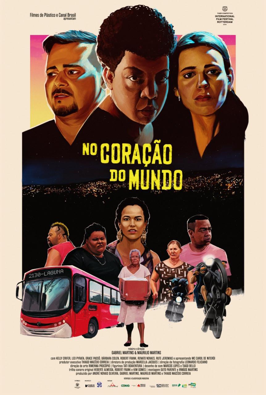 Cartaz do filme mineiro No Coração do Mundo (2019) | Foto (Embaúba Filmes)
