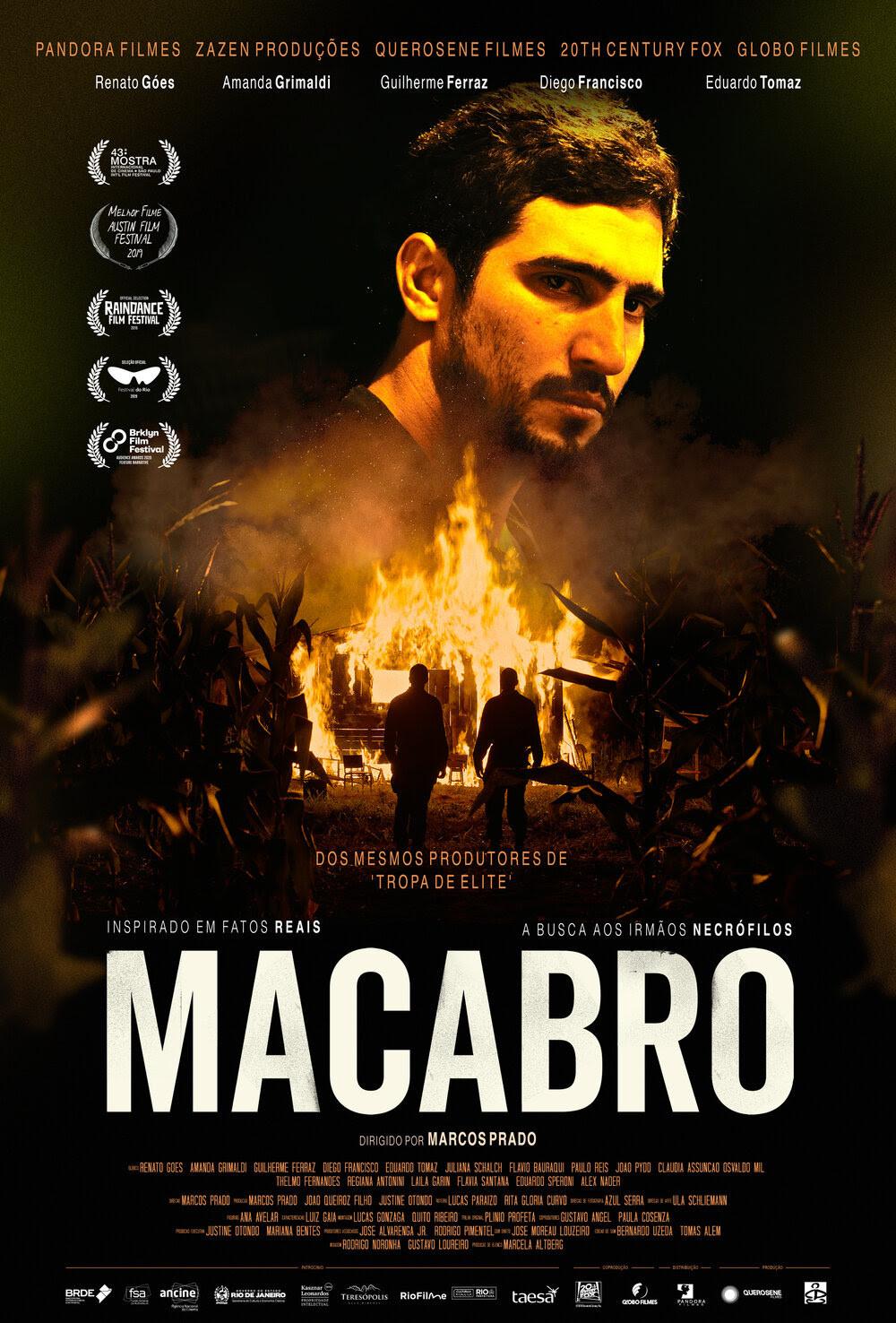 Cartaz do filme nacional Macabro (2019), de Marcos Prado | Divulgação (Pandora Filmes)