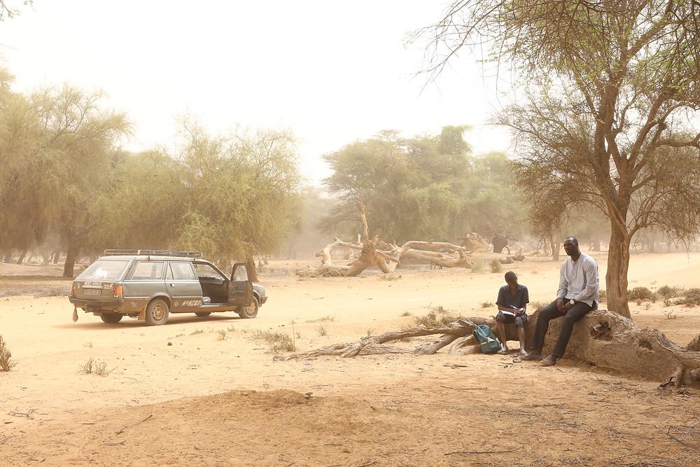 Lionel Louis Basse e Omar Sy em cena do filme franco-senegalês Jornada da Vida (Yao, 2018) | Foto: Divulgação (Califórnia Filmes