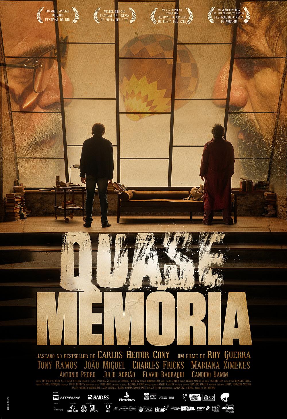 Cartaz do filme Quase Memória (2015) | Divulgação (Pandora Filmes)