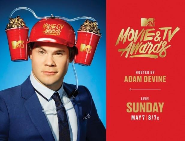 O ator Adam Devine como apresentador do MTV Movie & TV Awards 2017 | Foto: Divulgação