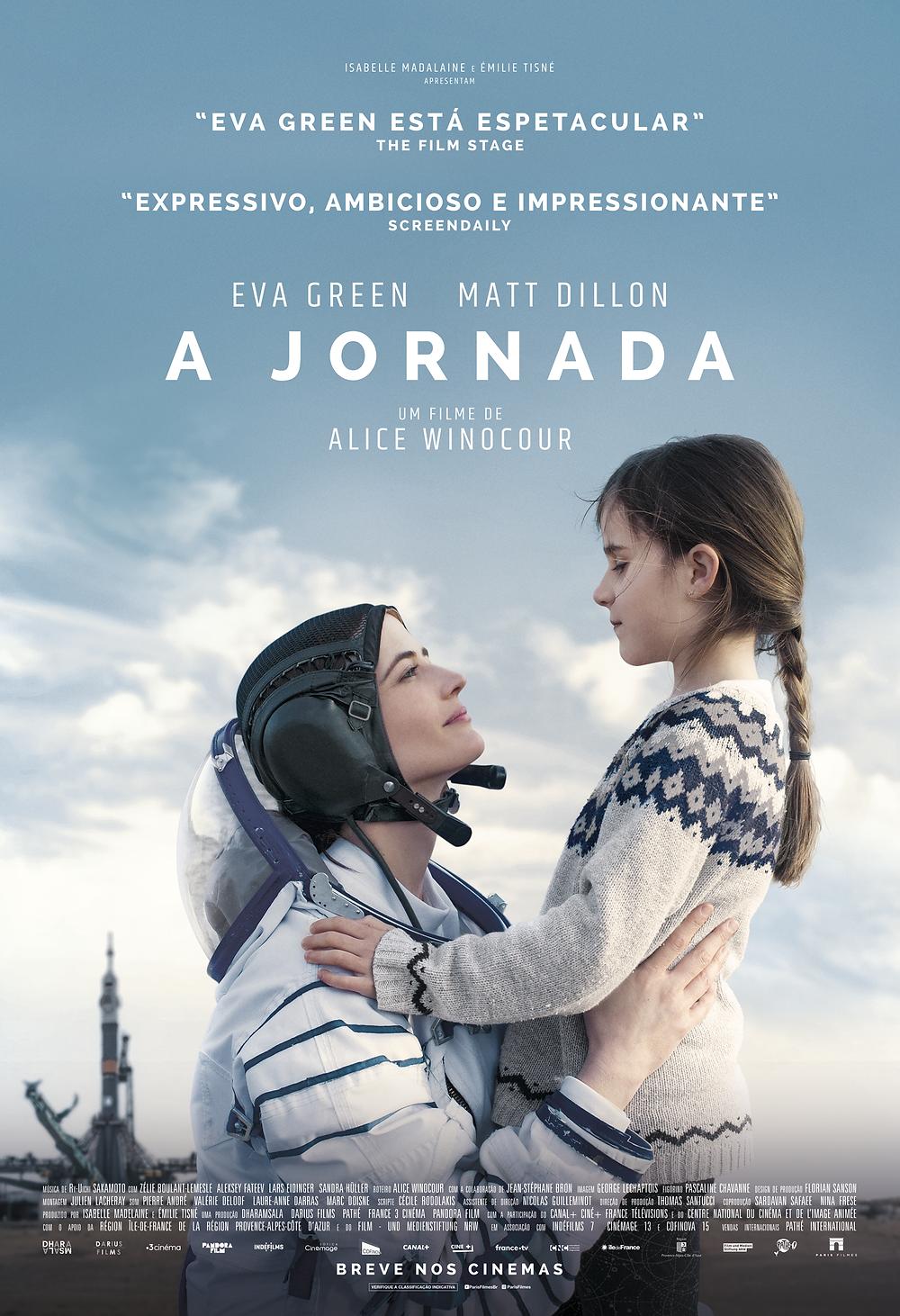Cartaz do drama A Jornada (2019) de Alice Winocour | Divulgação (Paris Filmes)