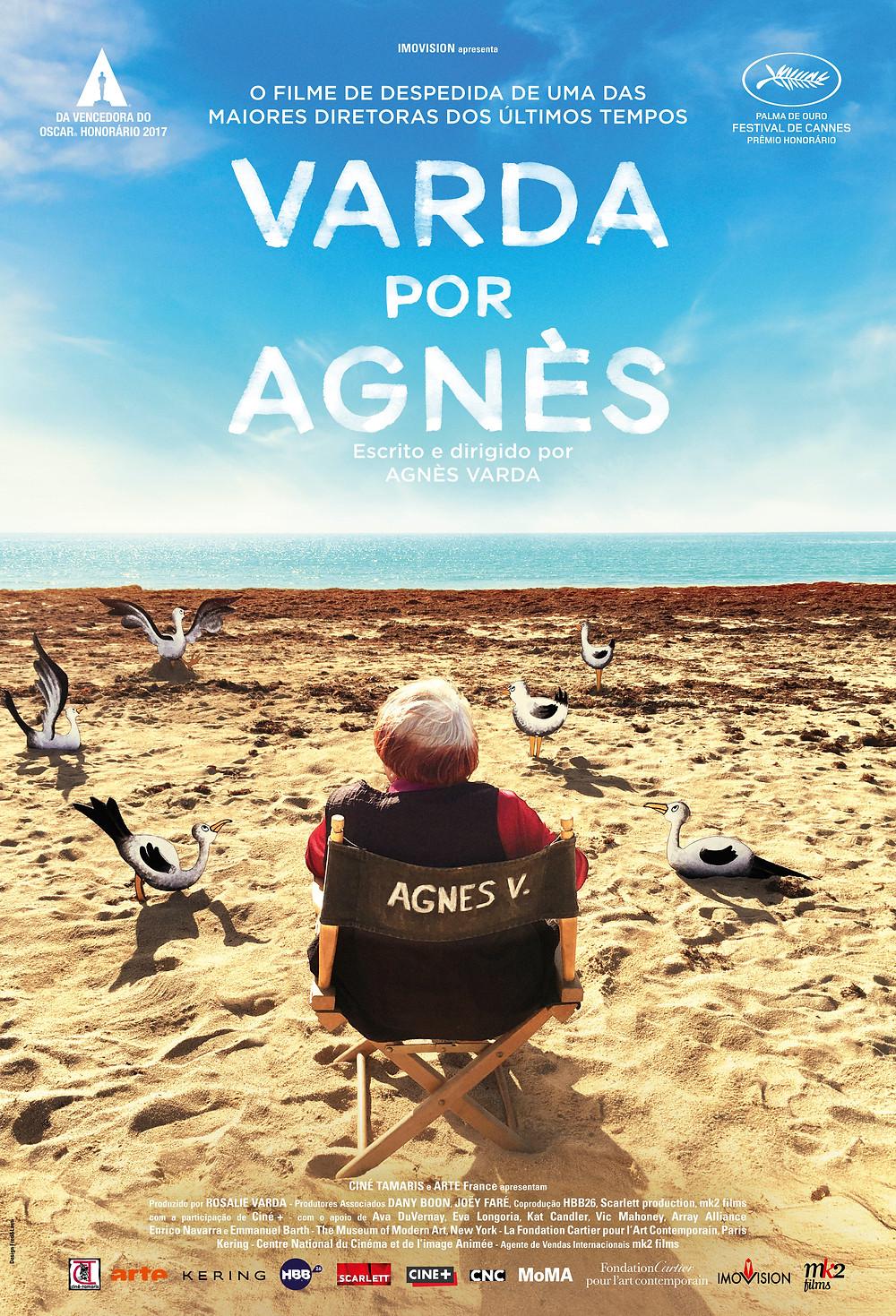 Pôster do filme Varda por Agnès (2019), dirigido pela própria Agnès Varda, falecida no último dia 29 de março | Divulgação (Imovision)