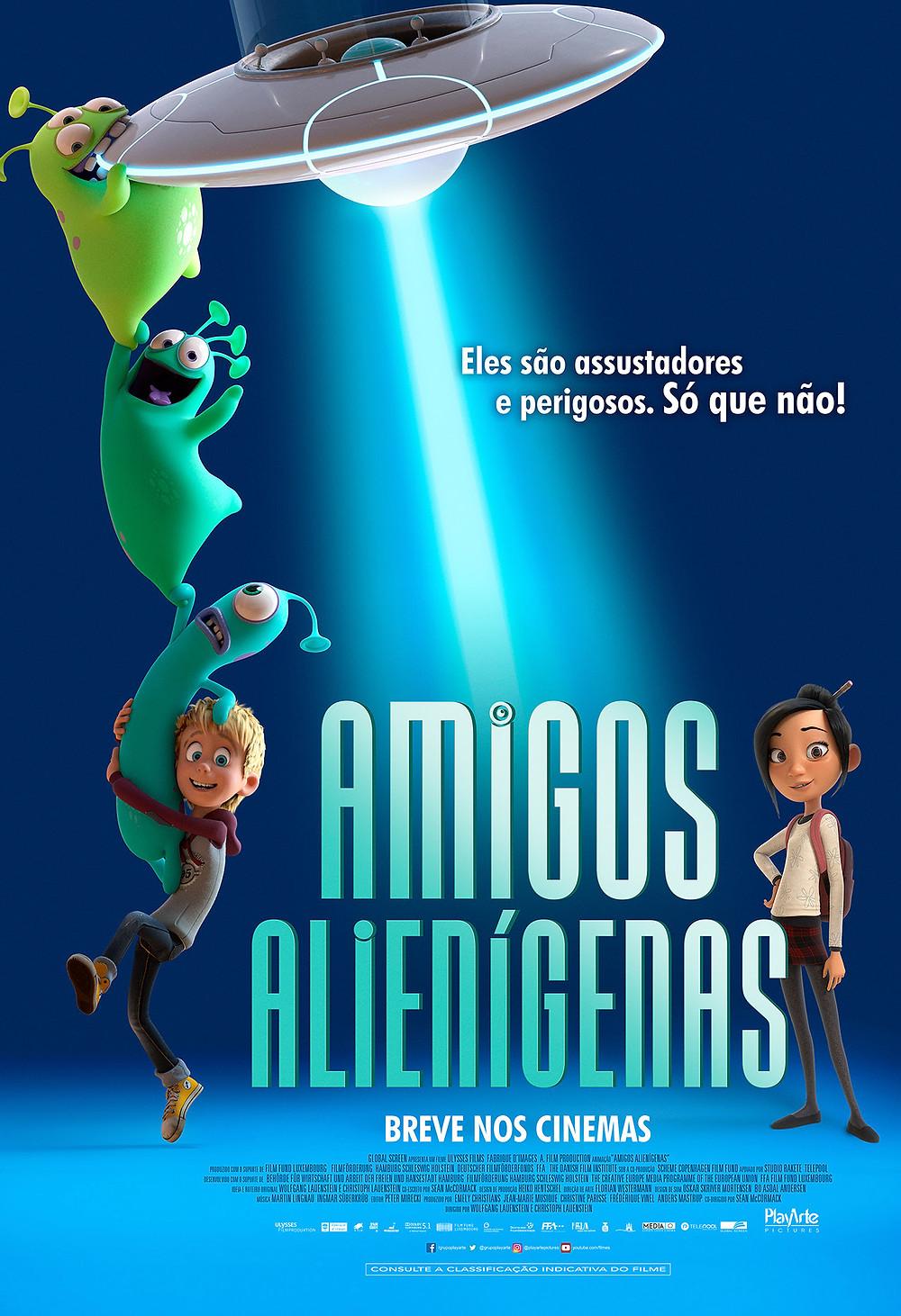 Cartaz da animação Amigos Alienígenas (2018) | Divulgação (PlayArte)