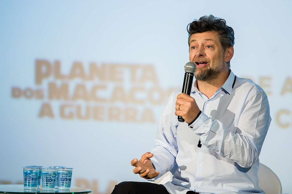 Andy Serkis na coletiva de imprensa, em São Paulo, do filme Planeta dos Macacos: A Guerra (2017) | Foto: Divulgação (Créditos: Mauricio Santana)