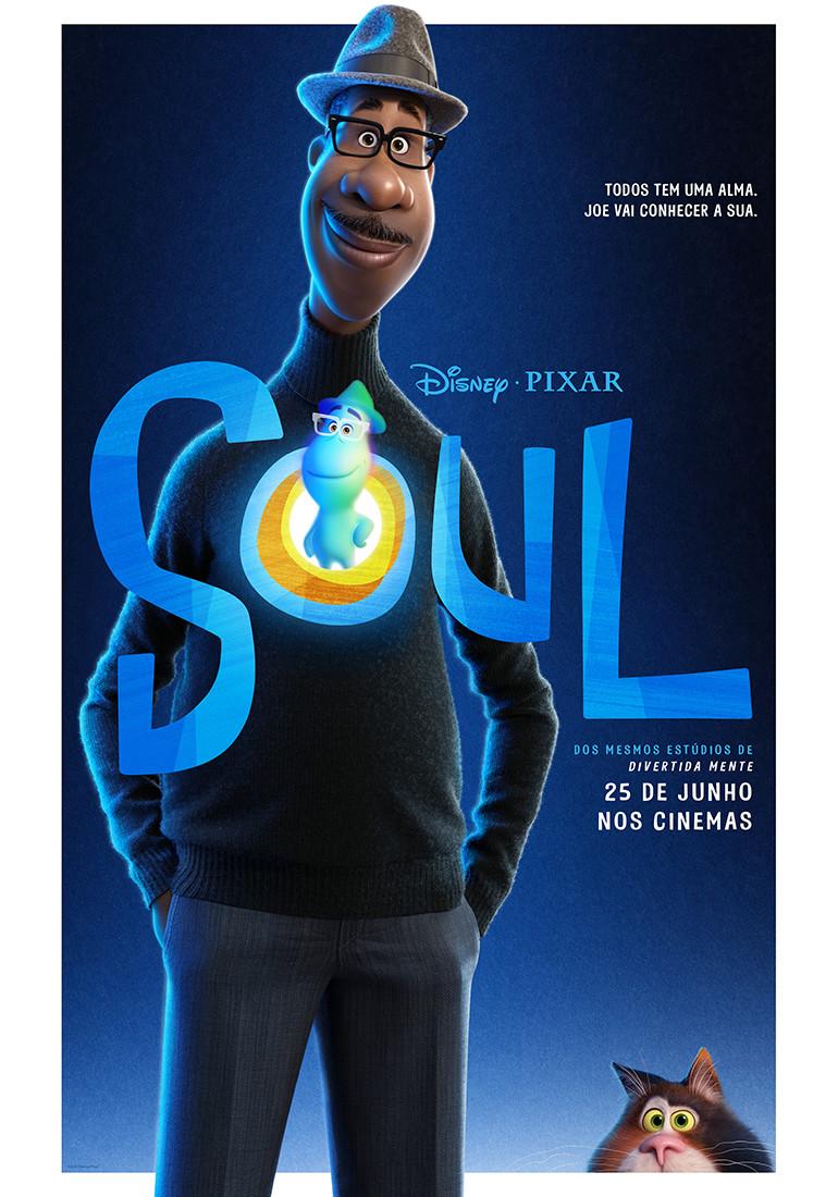 Pôster da animação Soul (2020) | Divulgação (Disney / Pixar)