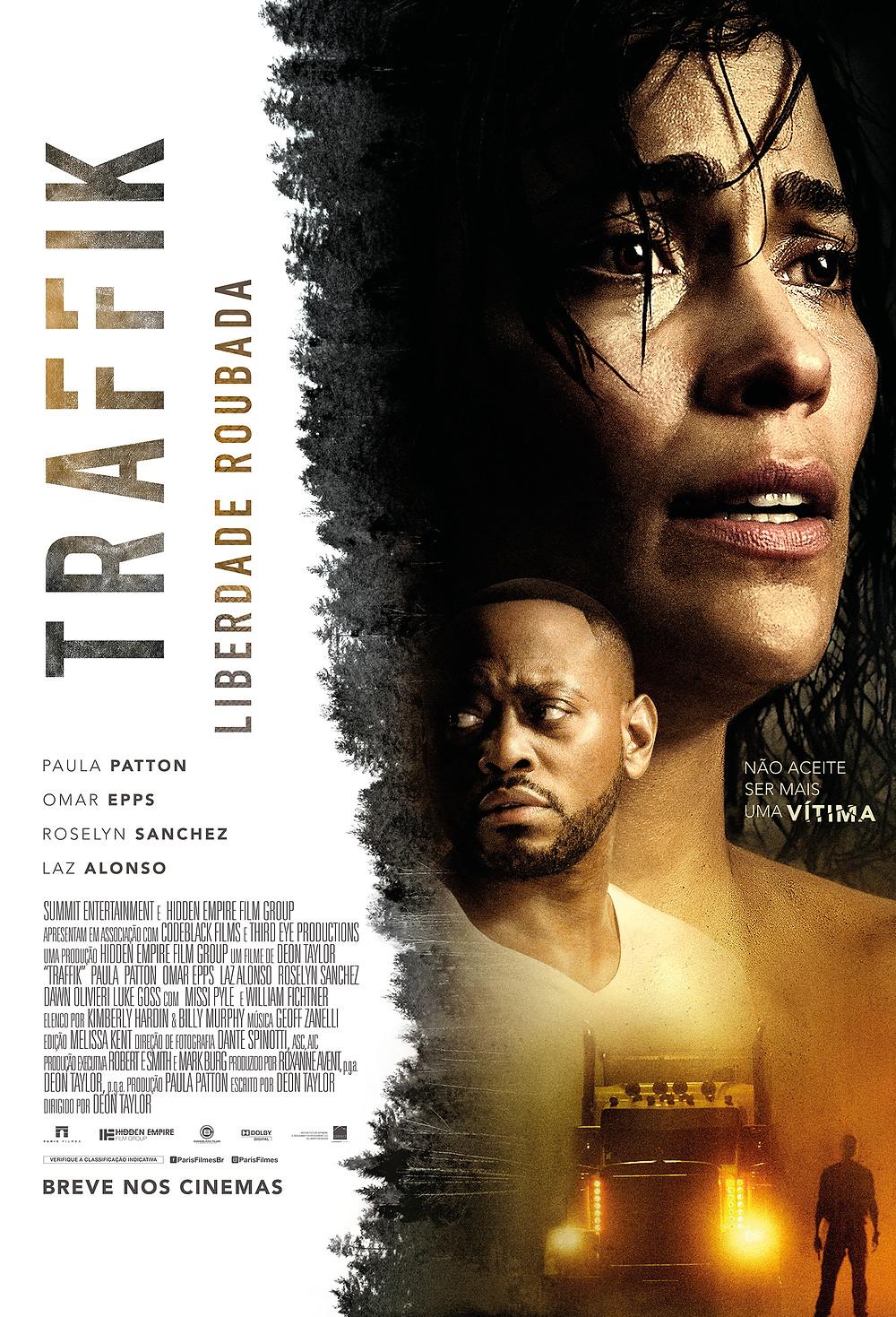 Pôster de Traffik – Liberdade Roubada (2018) | Divulgação (Paris Filmes)