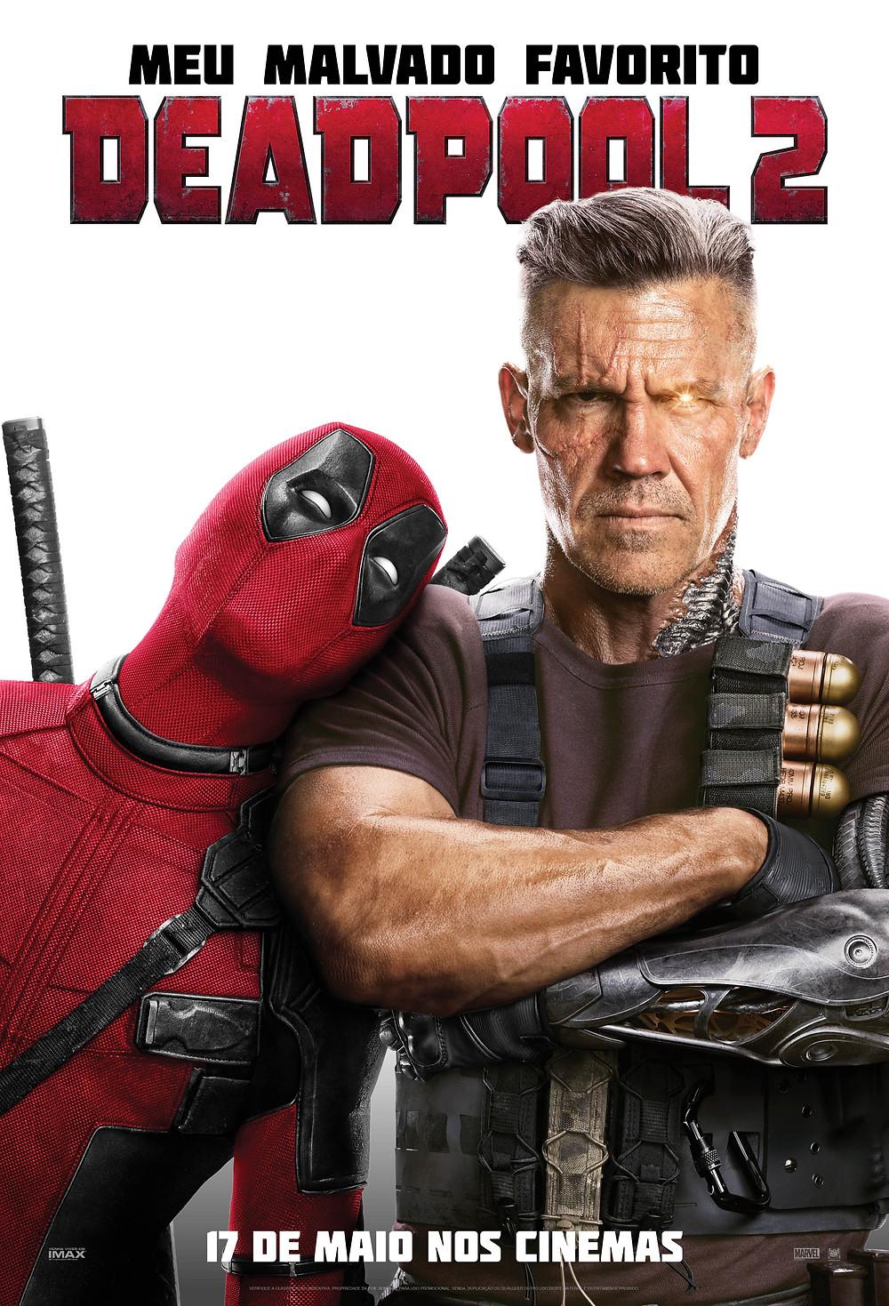 Pôster de lançamento do Deadpool 2 (2018) | Divulgação (Fox)