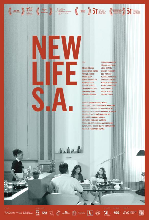 Cartaz do filme nacional New Life S.A. (2019) | Divulgação (Pandora Filmes)
