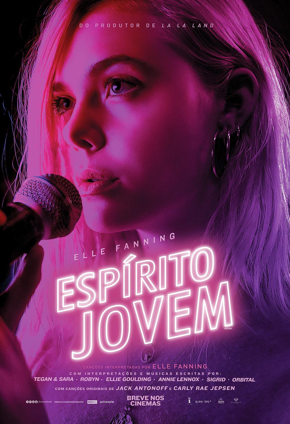 Cartaz do filme Espírito Jovem (2018), de Max Minguella | Divulgação