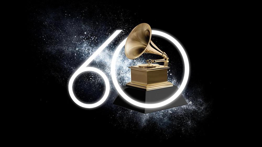 Logo da 60ª edição do GRAMMY Awards | Divulgação