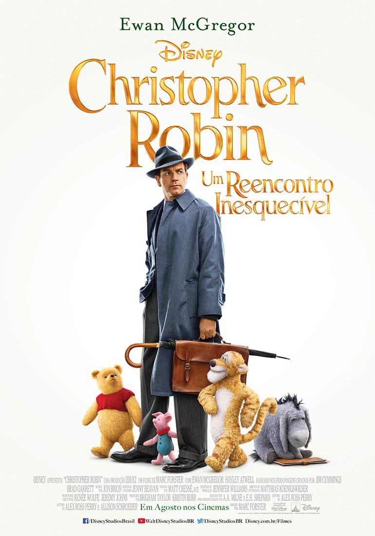 Pôster do filme live action Christopher Robin - Um Reencontro Inesquecível (2018) | Divulgação (Disney)