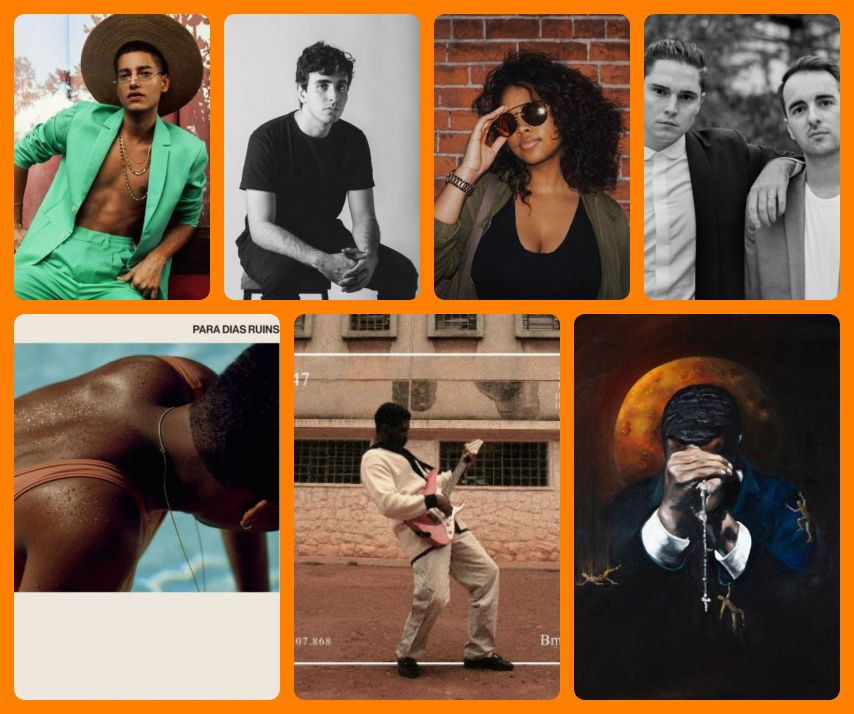 Repescagem musical 2018: Jaloo | Pratagy | H.E.R. | Her | Para Dias Ruins, de Mahmundi | Bluesman, de Baco Exu do Blues | Ghetto Gospel: The New Testament, de Ghetts | Imagens: Divulgação