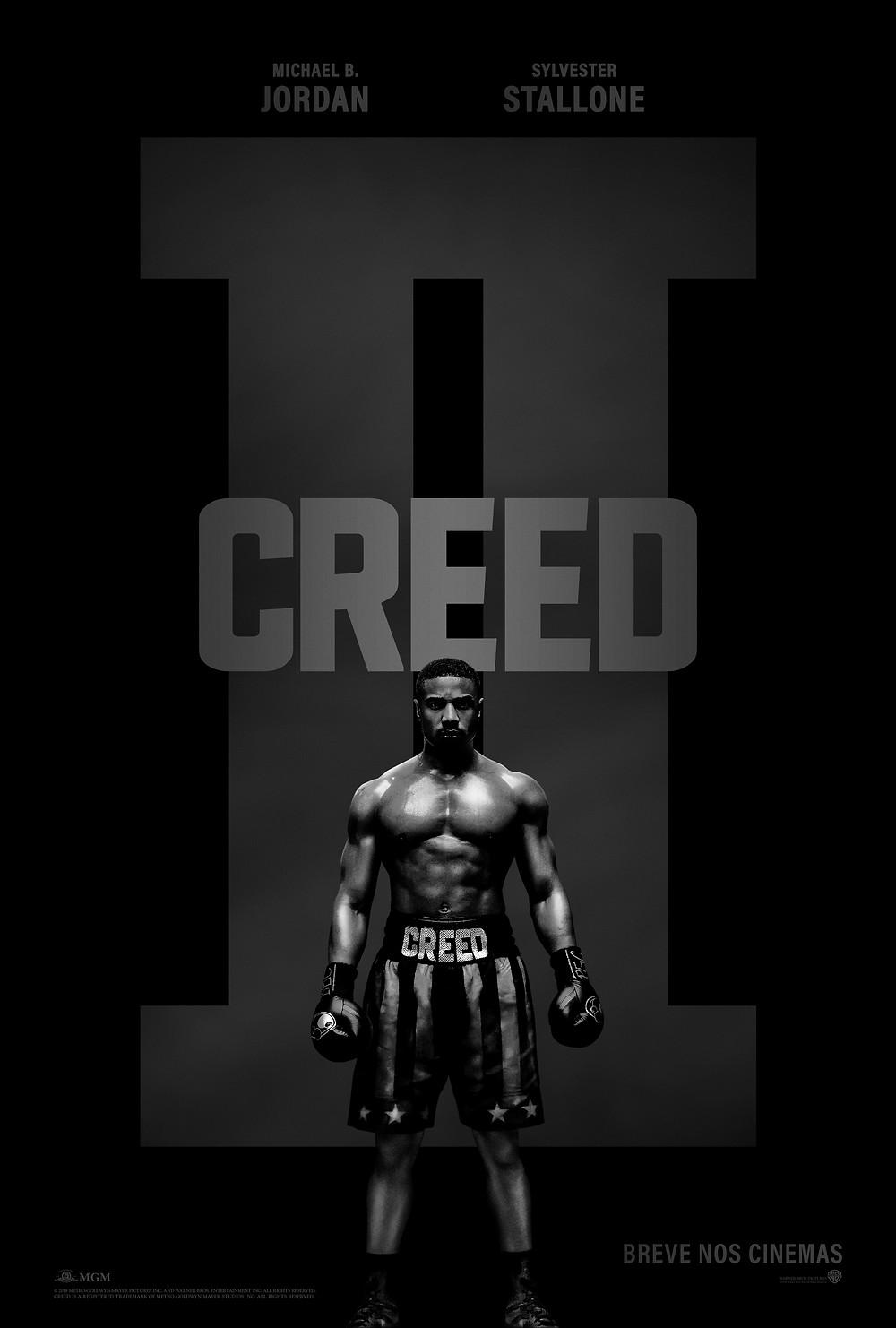 Teaser pôster do filme Creed II (2019) | Divulgação (Warner Bros.)