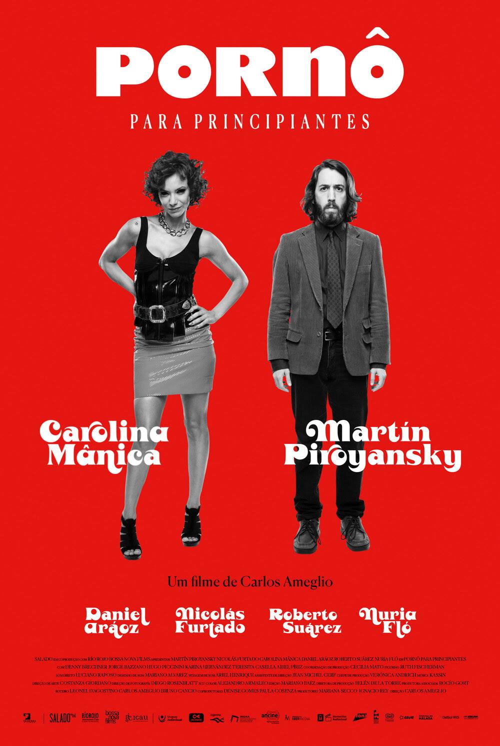 Cartaz do filme Pornô Para Principiantes (2019), coprodução argentina, brasileira e uruguaia | Divulgação (Pandora Filmes)