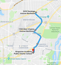 A screen shot from Google Maps showing bus route C.