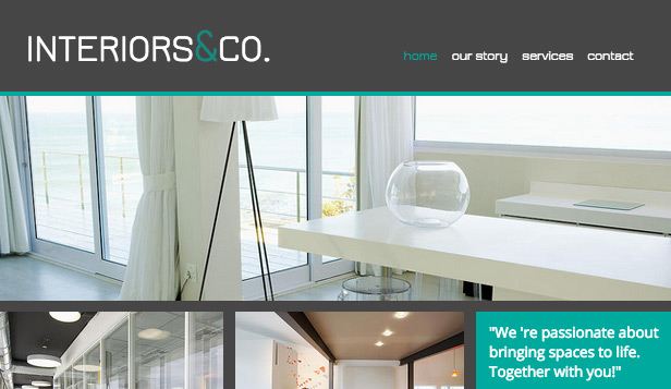Design website templates – Interiors & Co