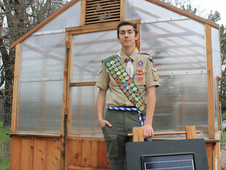 New Greenhouse is Eagle Scout Project