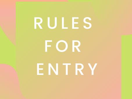 RULES FOR ENTRY: art + gender