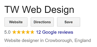 twwebdesign crowborough google reviews.P