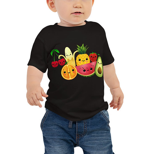 Baby Jersey Short Sleeve Tee - Food Party