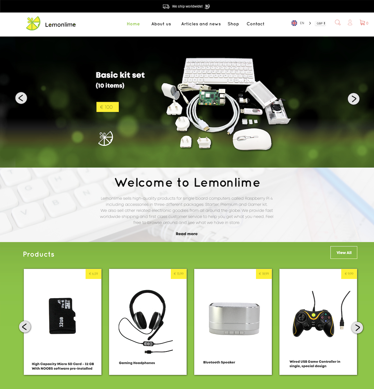 Website design Lemonlime