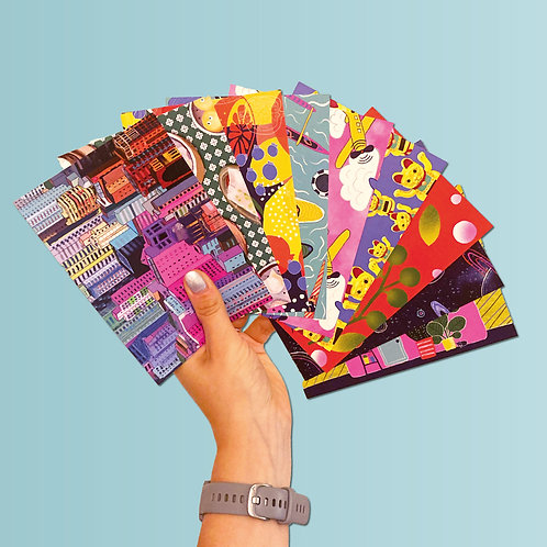 SET OF 9 CARDS